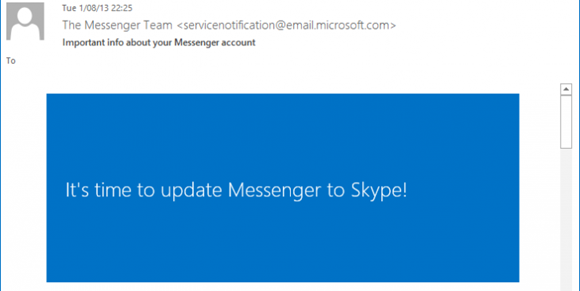 Messenger to be Discontinued on March 15! Time to Update Messenger to Skype!