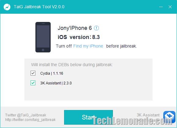 How to Use TaiG 2 to Jailbreak iOS 8.3 on iPhone / iPad Air